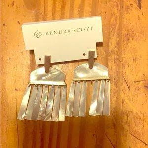 Ivory mop earrings by Kendra Scott
